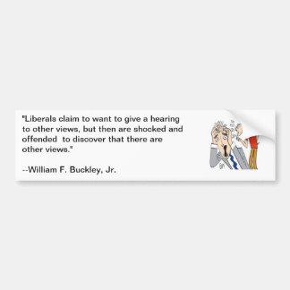 Citações de William F Buckley sobre liberais Adesivo Para Carro