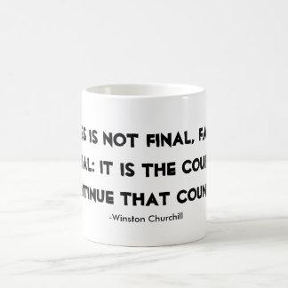 Citações de Winston Churchill da caneca do sucesso