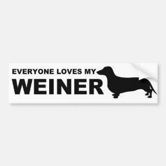 """Citações divertidas do """"Dachshund"""" do cão de Adesivo Para Carro"""