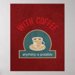Citações do café impressão