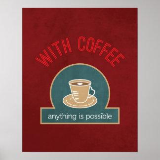 Citações do café poster