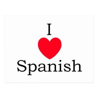 Citações do espanhol cartão postal