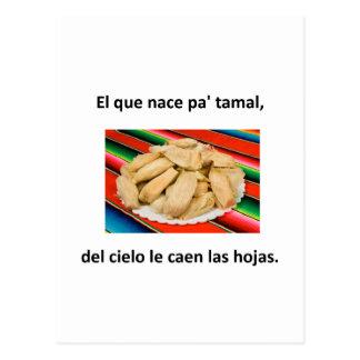 Citações do espanhol cartao postal
