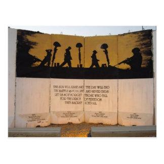 Citações do memorial/Garfield da barreira do Cartão Postal