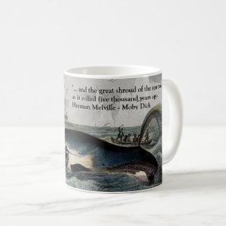 Citações do pau de Moby e caneca da baleia