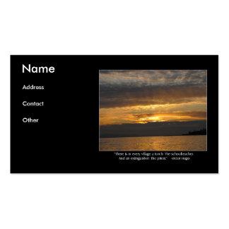 Citações do por do sol e do Hugo Cartão De Visita