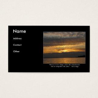 Citações do por do sol e do Hugo Cartão De Visitas