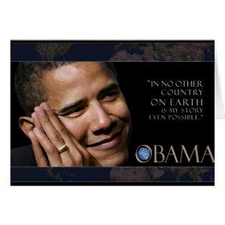 Citações do presidente Obama Cartão Comemorativo