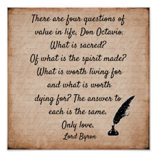 Citações do senhor Byron ** impressão da arte 12