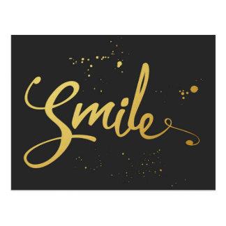 Citações do sorriso do ouro cartão postal