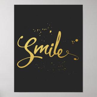 Citações do sorriso do ouro pôster