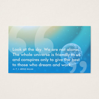 Citações do sucesso de APJ Abdul Kalam Cartão De Visitas