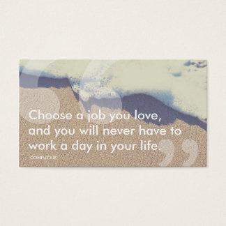citações do sucesso de confucius cartão de visitas