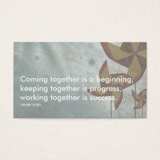 citações do sucesso de Henry Ford Cartão De Visitas