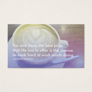 citações do sucesso de roosevelt cartão de visitas