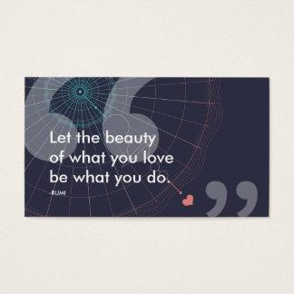 citações do sucesso do rumi cartão de visitas