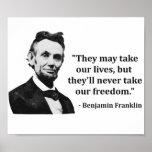 Citações do troll de Abraham Lincoln Poster