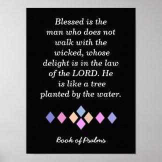 Citações dos salmos - impressão da arte