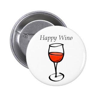 Citações engraçadas do bebendo do vinho do Wino Bóton Redondo 5.08cm