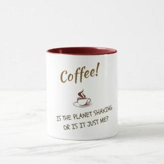 Citações engraçadas do café, caneca original do