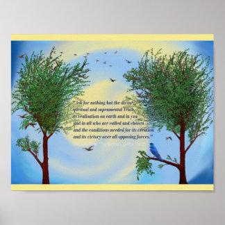 Citações espirituais do poster da arte de Sri