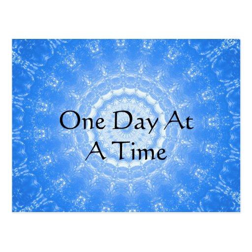 citações espirituais inspiradas - um dia de cada v cartão postal