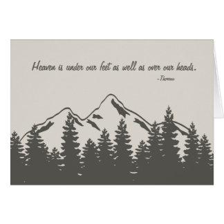 Citações exteriores rústicas da aventura do cartão