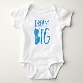 Citações grandes, inspiradas ideais, aguarela azul body para bebê