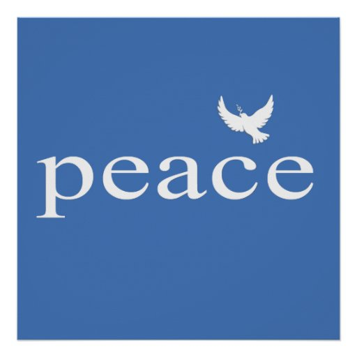 Citações inspiradas azuis da paz posters