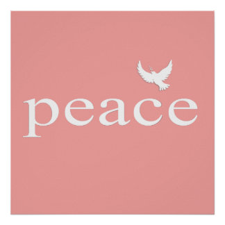 Citações inspiradas corais da paz posteres