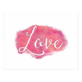 Citações inspiradas da aguarela do amor cartão postal
