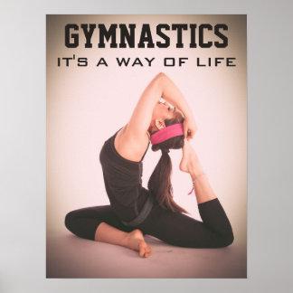 Citações inspiradas da ginástica pôster