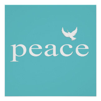 Citações inspiradas da paz da cerceta poster