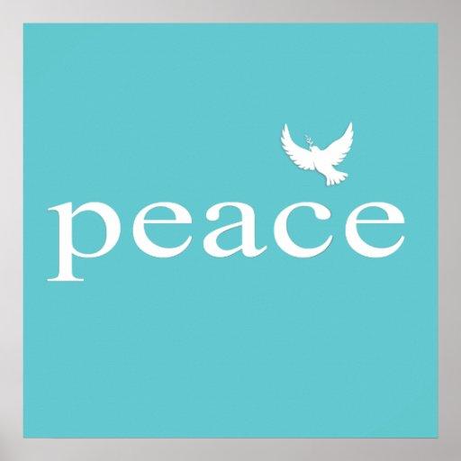 Citações inspiradas da paz da cerceta posteres