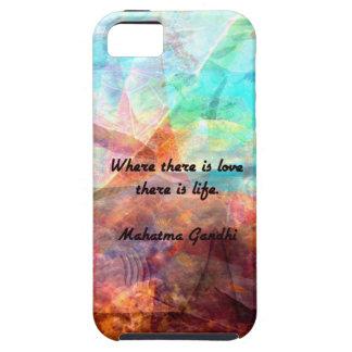 Citações inspiradas de Gandhi sobre o amor, a vida Capa Para iPhone 5