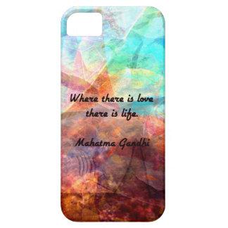 Citações inspiradas de Gandhi sobre o amor, a vida Capas Para iPhone 5