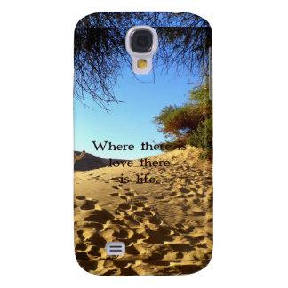 Citações inspiradas de Gandhi sobre o amor, a vida Capas Personalizadas Samsung Galaxy S4