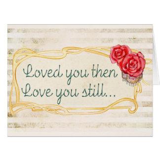 Citações inspiradas do amor cartão comemorativo grande