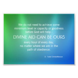 Citações inspiradas do auxílio divino impressão de foto