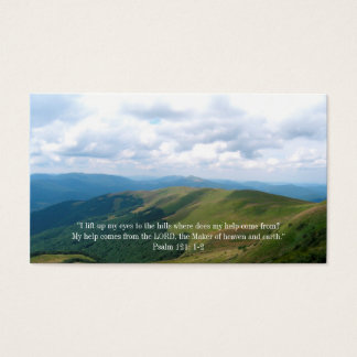 Citações inspiradas do cristão | cartão de visitas