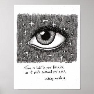 Citações inspiradas do poster da arte da parede