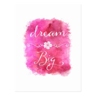 Citações inspiradas grandes ideais cor-de-rosa da cartão postal