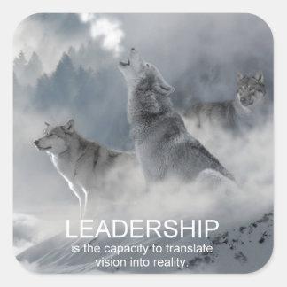 citações inspiradas inspiradores da liderança adesivo quadrado