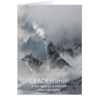 citações inspiradas inspiradores da liderança cartão comemorativo