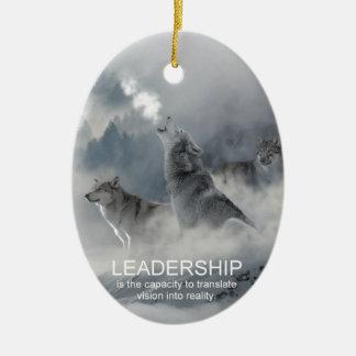 citações inspiradas inspiradores da liderança ornamento de cerâmica oval