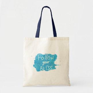 Citações inspiradas: Siga seu saco da felicidade Bolsa Tote