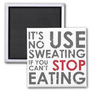Citações inspiradores da dieta ímã quadrado