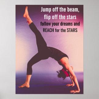 Citações inspiradores da ginástica pôster