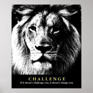 Citações inspiradores do desafio do leão branco pôster