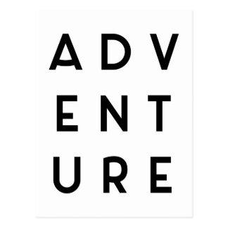 Citações minimalistas da aventura cartão postal